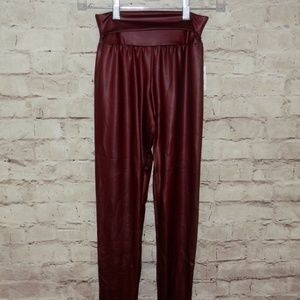 NEW Medium Faux Leather High Rise Skinny Pants